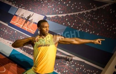 Posters La statue de Usain Bolt chez Madame Tussauds à Londres 2012