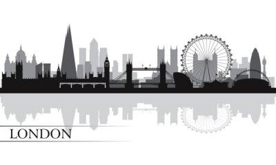 Posters La ville de Londres skyline silhouette fond