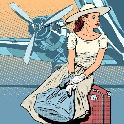 Posters Lady traveller à l'aéroport
