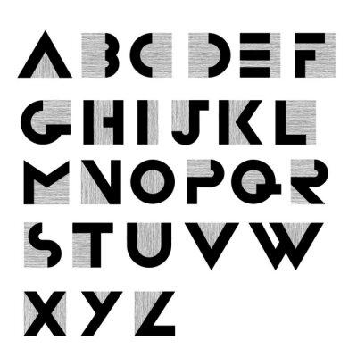 Posters Large, décoratif, rétro, alphabet