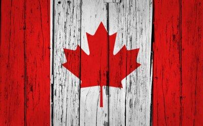 Posters Le drapeau du Canada Grunge Background
