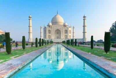 Posters Le matin de voir le monument Taj Mahal