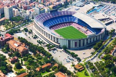 Posters Le plus grand stade de Barcelone à partir de l'hélicoptère. Catalogne