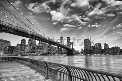 Posters Le pont de Brooklyn à New York.