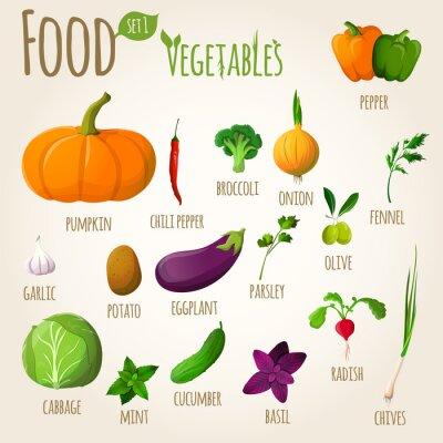 Posters légumes alimentaires fixées