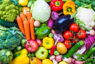 Posters Légumes et fruits fond.