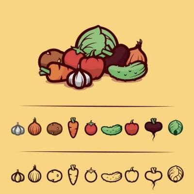 Posters légumes mis