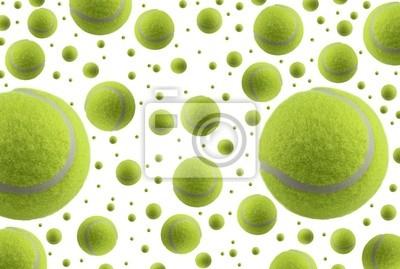 Les balles de tennis isolé sur fond blanc