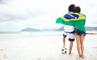 Posters Les fans de football Brasil
