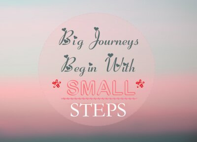 Posters Les grands voyages commencent par de petites étapes