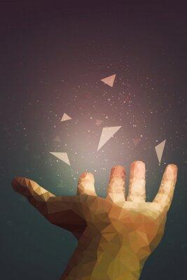 Posters Les humains sont plus puissants qu'ils ne le pensent, votre main peut guérir ou faire voler un objet dans l'air