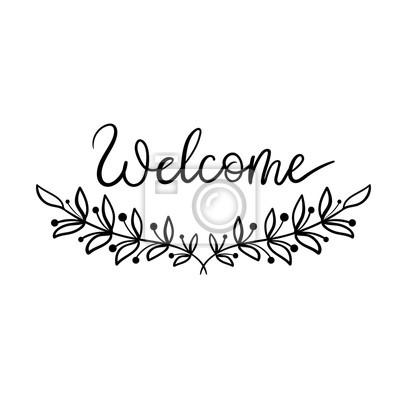 Calligraphie Lettre lettre de bienvenue. calligraphie moderne. illustration vectorielle