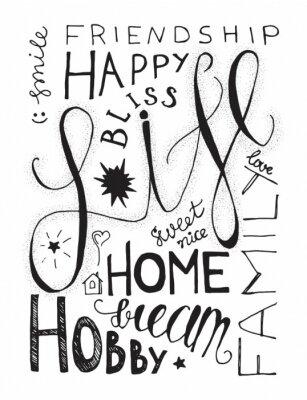 Posters Lettres de la vie heureuse