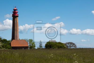 Posters Leuchtturm Flügge auf der Insel Fehmarn