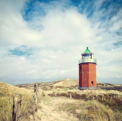 Posters Leuchtturm in den Dünen