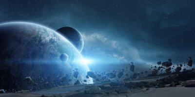 Posters Lever de soleil sur la planète Terre dans l'espace