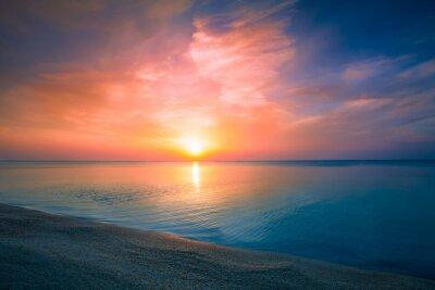 Posters Lever du soleil sur la mer
