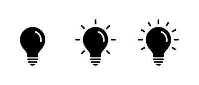 Posters Light Bulb icon set, Idea icon symbol vector