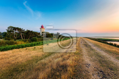 Posters Lighthouse Westermarkelsdorf on the island Fehmarn