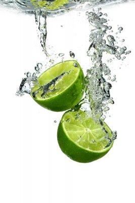 Posters Lime avec des gouttes d'eau