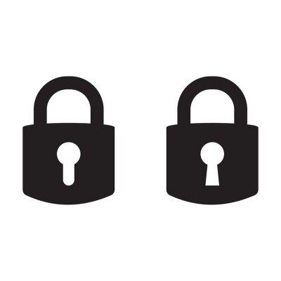 Posters Lock vector icon, padlock icon, vector isolated symbol