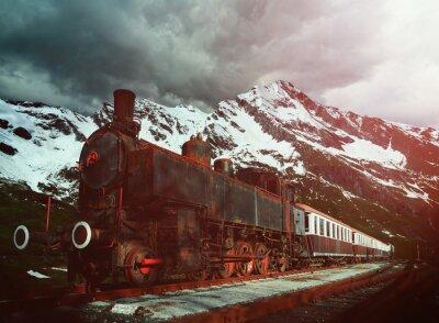 Posters locomotive à vapeur