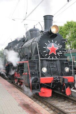 Posters Locomotive à vapeur, vue de face