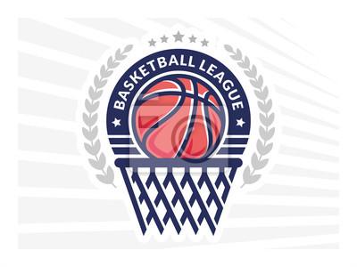 Logo De La Ligue De Basket Ball Embleme Dessins Avec Ballon