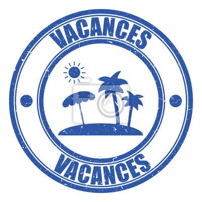 Logo vacances. affiches murales • posters paradisiaque ...