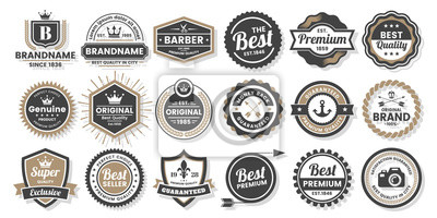 Posters Logo vectoriel rétro vintage pour bannière