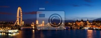 Londres panoramique, y compris Big Ben et des Chambres du Parlement.