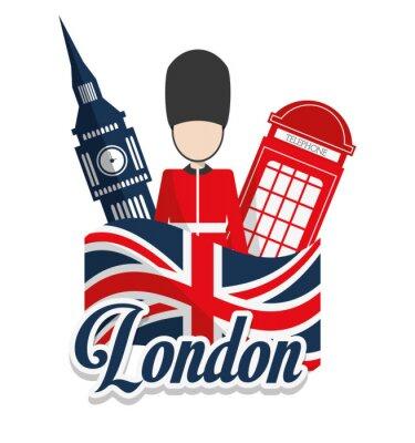 Posters Londres, repères, conception
