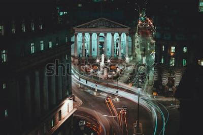 Posters Long Exposure - Royal Stock Exchange - Londres - Light Trails - La ville de Londres