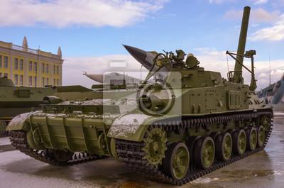 Lourd soviétique guerre tank.Cold
