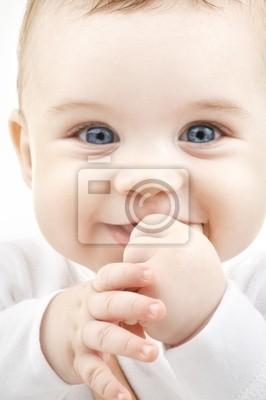 lumineux portrait en gros plan de bébé adorable