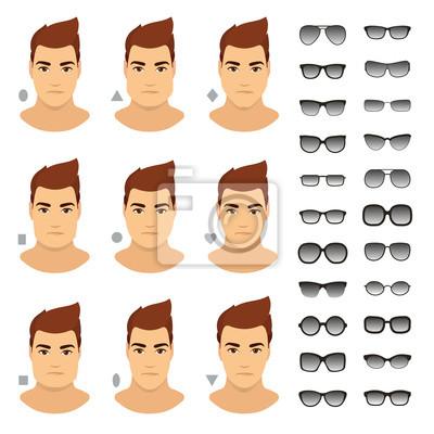 53213387bb243e Posters Lunettes de soleil pour homme. Types de lunettes de soleil pour  homme différent visage
