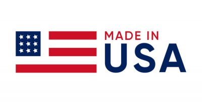 Posters made in usa sign vector design