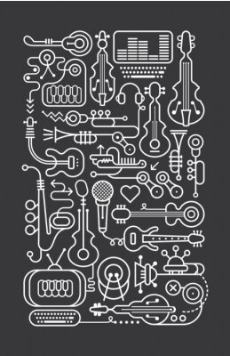 Posters Magasin de musique Art Line