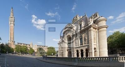 Mairie de Lille et fils beffroi
