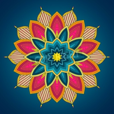 Posters Mandala. Dentelles ethnique de motif ornemental tour. Belle dessiné à la main de fleurs. Peut être utilisé pour la conception de tissu, papier décoratif, conception de sites Web, la broderie, tatouage