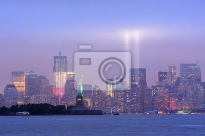 Manhattan, centre-ville, nuit