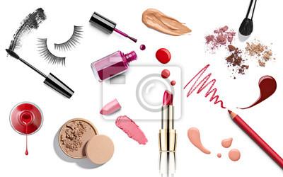 Posters maquillage beauté rouge à lèvres liquide ongles vernis à la poudre crayon de mascara