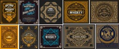 Posters Mega set of 10 vintage labels. Vector layered