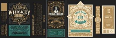 Posters Mega set of 8 vintage labels. Vector layered