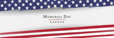 Posters Memorial Day background vector illustration - honoring all who served
