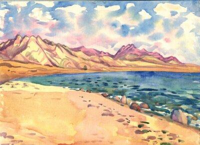 Posters Mer et montagne. Paysage. La peinture à l'aquarelle