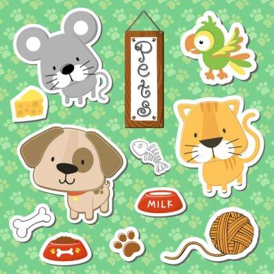 Posters mignon bébé animaux animaux vector set