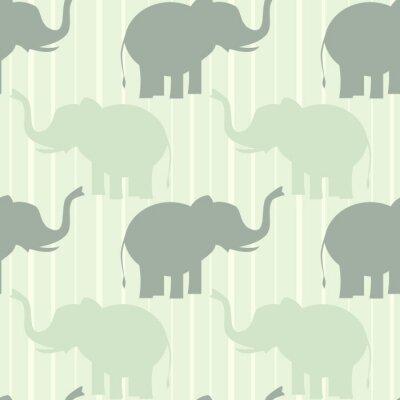Posters Mignon pastel éléphant seamless vecteur modèle fond illustration