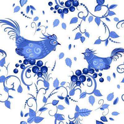 Posters mode texture homogène avec des fleurs stylisées