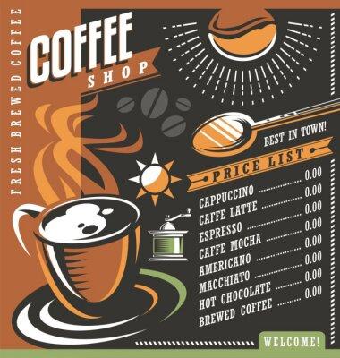 Posters Modèle de création de menu du café
